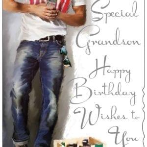 Grandson (Beers) Birthday Card