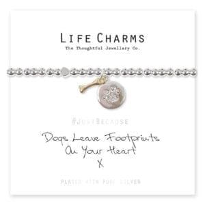 Dog Paw & Bone Life Charms Bracelet