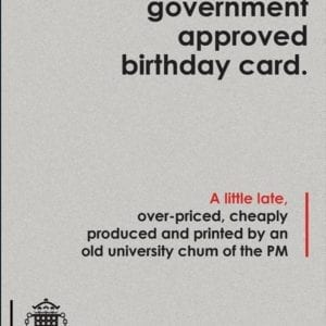 UK Government approved birthday card