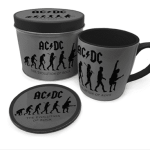 AC/DC (The Evolution of Rock) Mug & Coaster In Tin