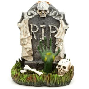 RIP Zombie Hand Tombstone Backflow Incense Burner