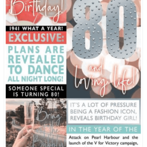 The Birthday Times Age Cards 2021 - Female 80