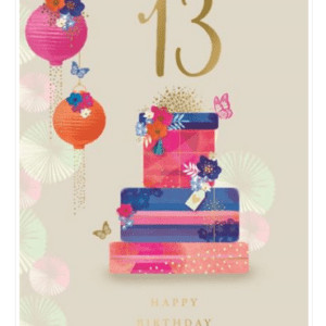 Age 13 Female Birthday Card - Finesse Kingfisher Cards