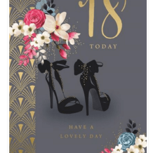 Age 18 Female Birthday Card - Finesse Kingfisher Cards