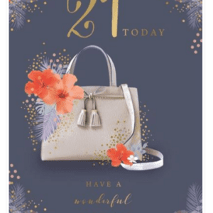 Age 21 Female Birthday Card - Finesse Kingfisher Cards