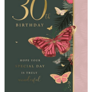 Age 30 Female Birthday Card - Finesse Kingfisher Cards