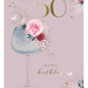 Age 50 Female Birthday Card - Finesse Kingfisher Cards