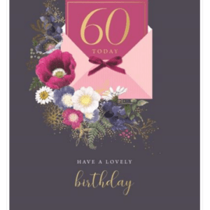 Age 60 Female Birthday Card - Finesse Kingfisher Cards