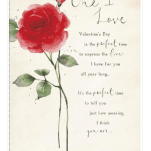Valentines Card - One I Love