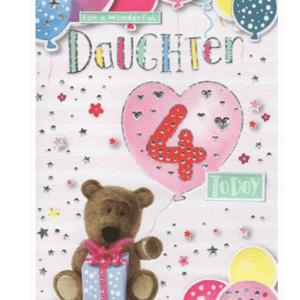 Daughter 4th Birthday Card