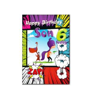 Son 6th Birthday Card