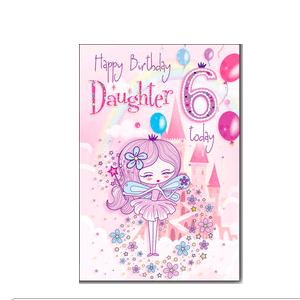 Daughter 6th Birthday Card