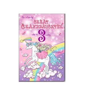Great Granddaughter 3rd Birthday Card