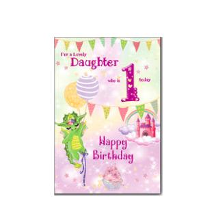 Daughter 1st Birthday Card