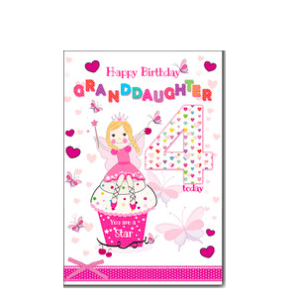 Granddaughter 4th Birthday Card