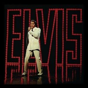 """Elvis Presley (Live) 12"""" Album Cover Framed Print"""