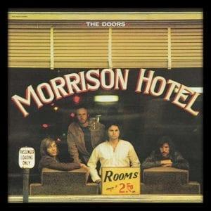 """The Doors (Morrison Hotel) 12"""" Album Cover Framed Print"""