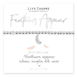 Feathers Appear When Angels Are Near Life Charms Bracelet