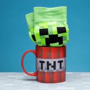 Minecraft Ceramic Mug and Socks Set