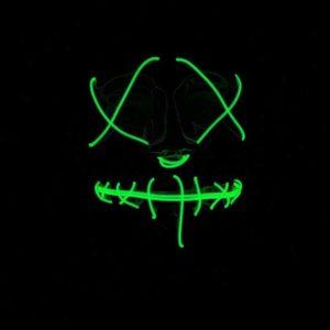 LED Neon Green Light Up Purge Mask Adults